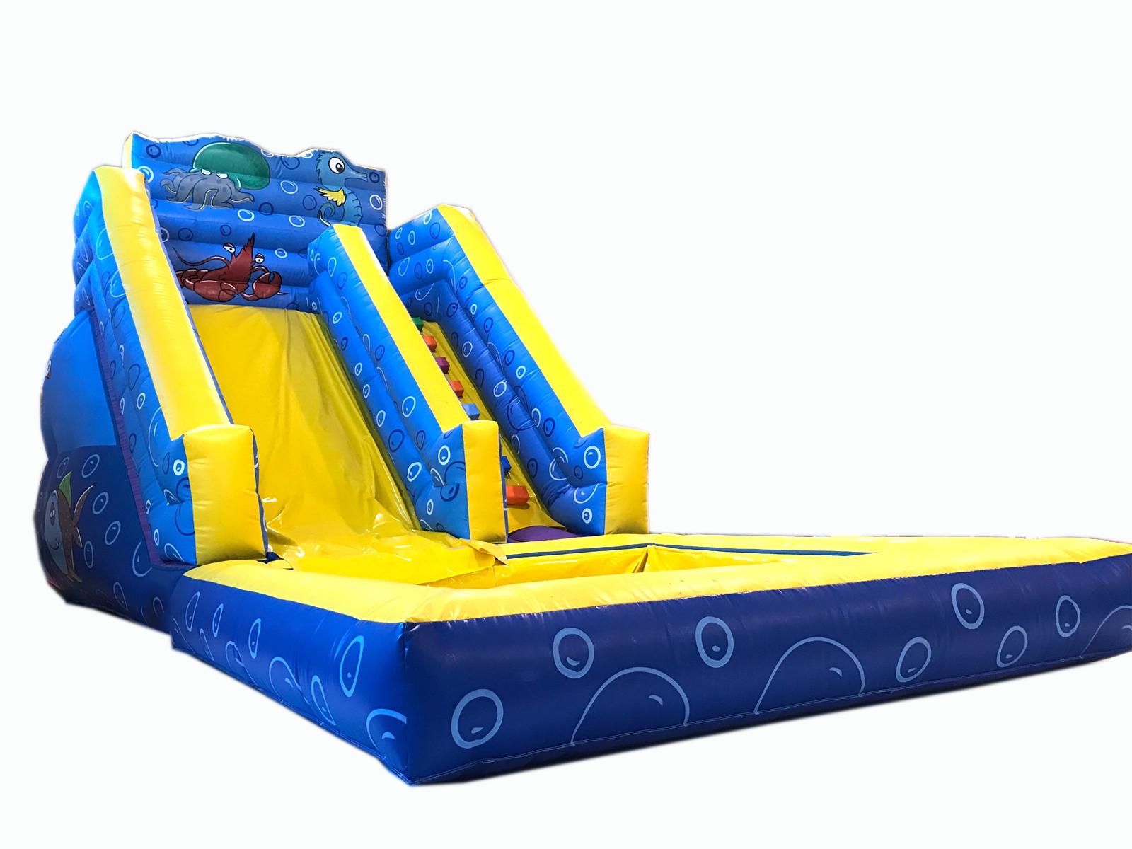 Hinchable acu tico cl sico con piscina grande for Piscinas hinchables grandes