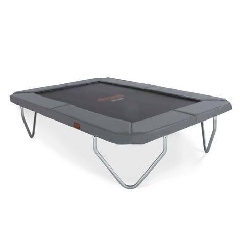 cama elástica proline 23 gris con patas en esquinas