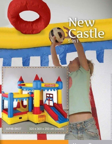 Portada hinchable New Castle