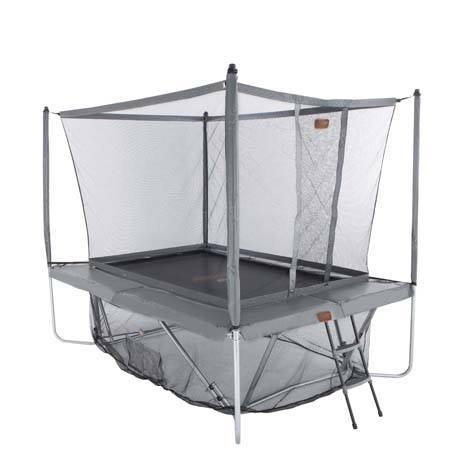 red de seguridad y faldón de cama elástica proline 23 gris