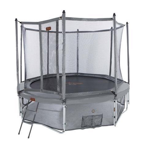red de seguridad y faldón de cama elástica proline 12 ó 14 gris